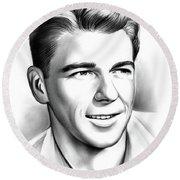 Young Reagan Round Beach Towel