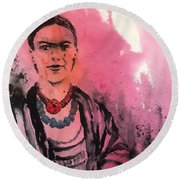 Younq Frida Round Beach Towel