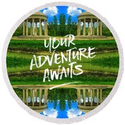 Your Adventure Awaits Temple Of Love Versailles Paris Round Beach Towel