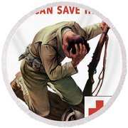 Your Blood Can Save Him - Ww2 Round Beach Towel
