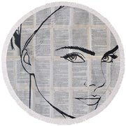 Your Eyes Round Beach Towel