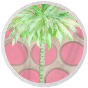 Your Highness Palm Tree Round Beach Towel