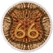 Your Mileage May Vary Round Beach Towel