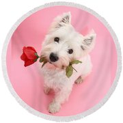 Your Valentine Every Day Round Beach Towel
