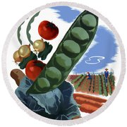 Your Victory Garden Counts More Than Ever Round Beach Towel