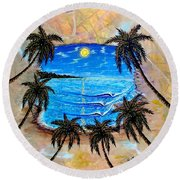 Your Vision Round Beach Towel