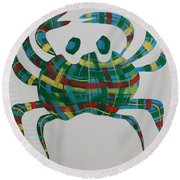 You're Such A Crab Round Beach Towel