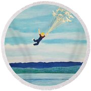 Youth Is Fleeting Round Beach Towel