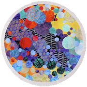 Youth Symphony Round Beach Towel
