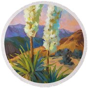 Yuccas Round Beach Towel