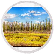 Yukon Marsh Round Beach Towel