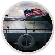 Round Beach Towel featuring the photograph Yukon Queen by Ann Lauwers
