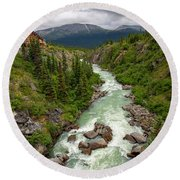 Yukon River Round Beach Towel
