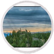 Yukon Sunrise Round Beach Towel