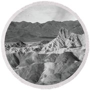 Zabriskie Point Landscape Round Beach Towel by Marius Sipa