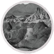 Zabriskie Point Portrait Round Beach Towel by Marius Sipa