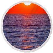 Zadar Sunset Round Beach Towel