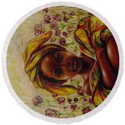 Zakkiyya Round Beach Towel by Emery Franklin