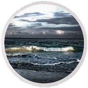 Zamas Beach #11 Round Beach Towel