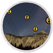Zcash In Sky Round Beach Towel