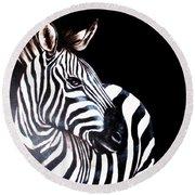 Zebra 2 Round Beach Towel