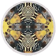 Zebra II Round Beach Towel by Maria Watt