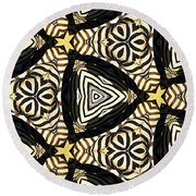 Zebra Iv Round Beach Towel by Maria Watt