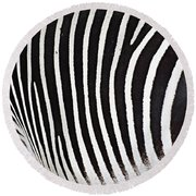Zebra Pattern Round Beach Towel