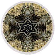 Zebra Vi Round Beach Towel by Maria Watt