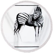 Zebra3 Round Beach Towel