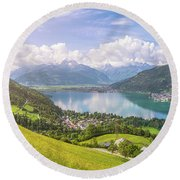Zell Am See - Alpine Beauty Round Beach Towel