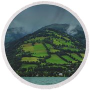 Zell Am See Panorama Round Beach Towel