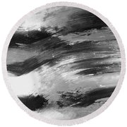 Zen Abstract A715d Round Beach Towel