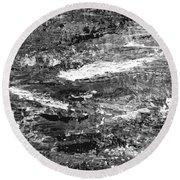 Zen Abstract A723b Round Beach Towel