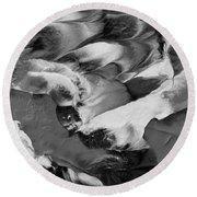 Zen Abstract Series N1015al Round Beach Towel
