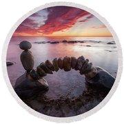 Zen Arch Round Beach Towel