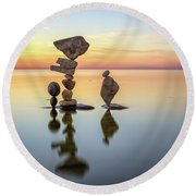 Zen Art Round Beach Towel