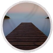 Round Beach Towel featuring the photograph Zen by Davor Zerjav