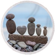Zen Family Round Beach Towel