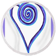 Zen Heart Off Balance Round Beach Towel