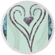 Zen Heart Sedona Labyrinth Round Beach Towel