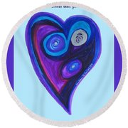 Zen Heart Vortex Round Beach Towel