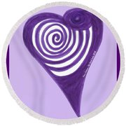 Zen Heart Vortexy  Round Beach Towel