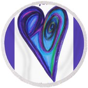 Zen Hearts Eclipse Eve Round Beach Towel