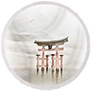 Zen Round Beach Towel