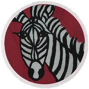 Zena Zebra Round Beach Towel