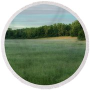 Round Beach Towel featuring the photograph Zentopia by Rod Best