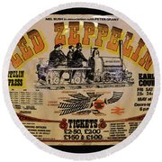 Zeppelin Express Round Beach Towel by David Lee Thompson