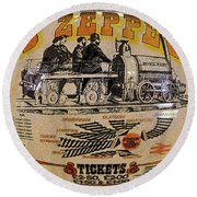 Zeppelin Express Work B Round Beach Towel