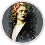 Ziegfeld Follies Girl - Drucilla Strain  Round Beach Towel